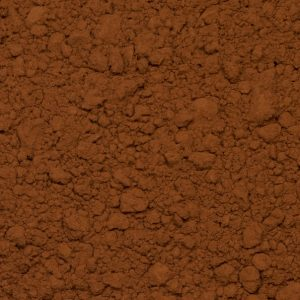 Close up of cocoa powder organic.