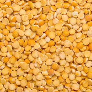 close up of Yellow Split Peas Organic