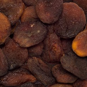 Close up of apricots dried whole.
