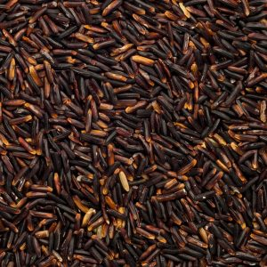 close up of Black Rice Thai Hom Organic