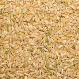 close up of Brown Rice Long Grain Organic