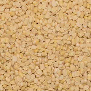 close up of Lentils White Split Organic